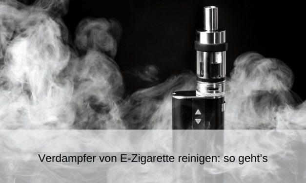 Verdampfer von E-Zigarette reinigen