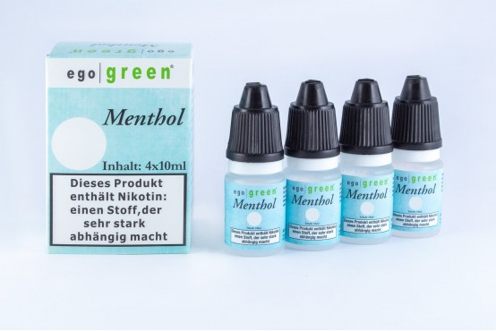 Fertige Menthol E Liquids für E Zigaretten