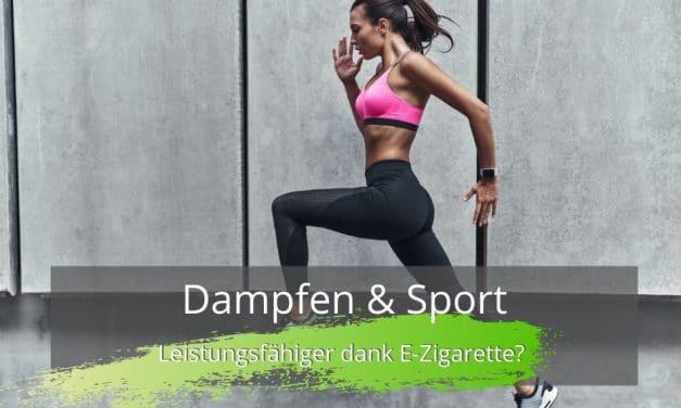Dampfen und Sport mit der E-Zigarette
